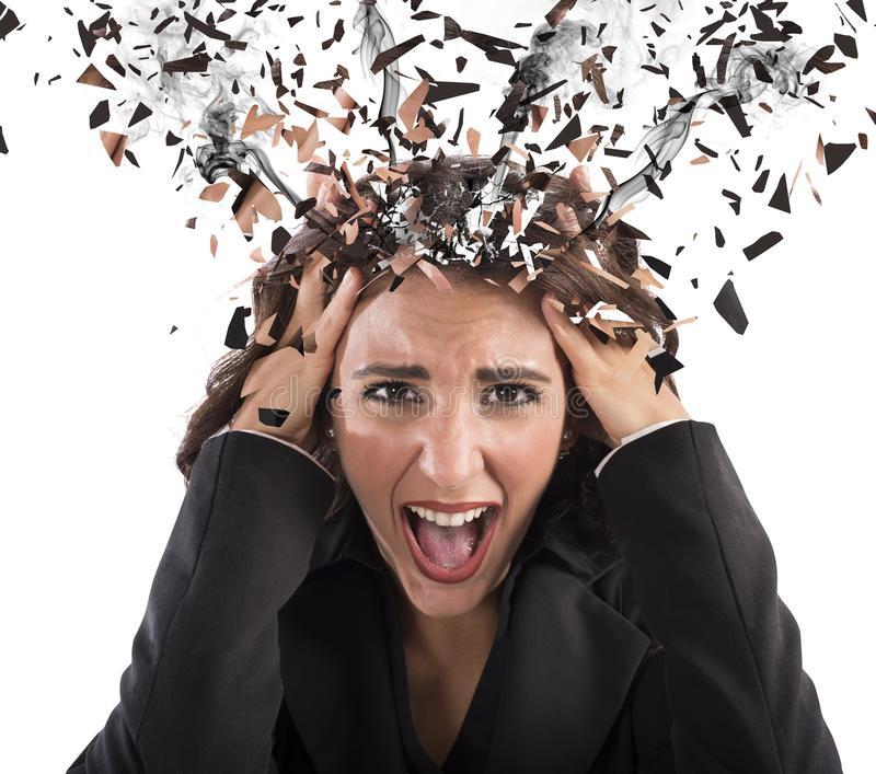 stress-head-smoke-businesswoman-screaming-her-60173976